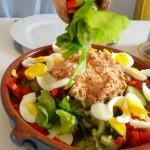 Salade van oogst stadsboeren
